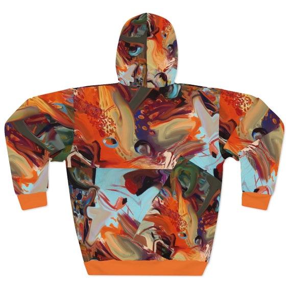 Artsy AOP Unisex Sweater Hoodie. Dragon Power