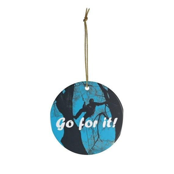 Artsy Ceramic Ornaments. Go for it! Climber.