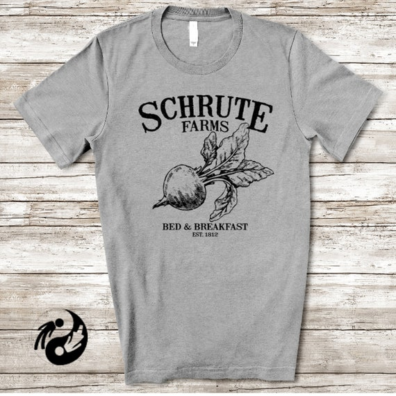 Schrute Farms Bed /& Breakfast Funny Office Dwights Mose TV American T Shirt