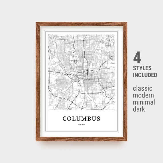 Columbus Map, Columbus Print, Large Map, Columbus ОН USA City Map, on map of of ohio, large maps of ohio with rivers, travel map of ohio, business map of ohio, general map of ohio, printable road map of ohio, transportation map of ohio, military map of ohio, reference map of ohio,