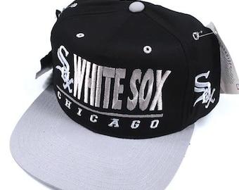 37ec859cd1ae4 Vintage Chicago White Sox Snapback Hat NWT MLB baseball 90s deadstock