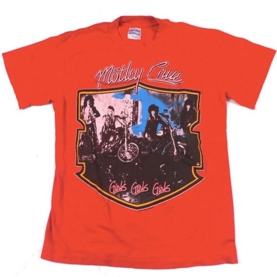 Vintage Motley Crue Rock Band 1987 T-shirt Girls G