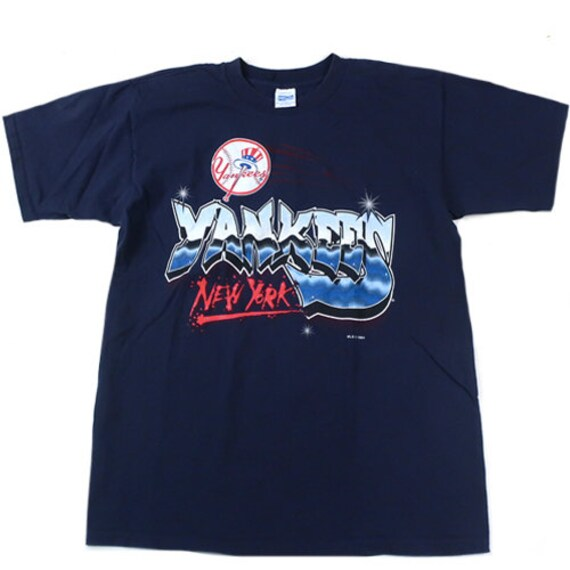 Vintage NY Yankees Graffiti T-shirt New York Mlb B