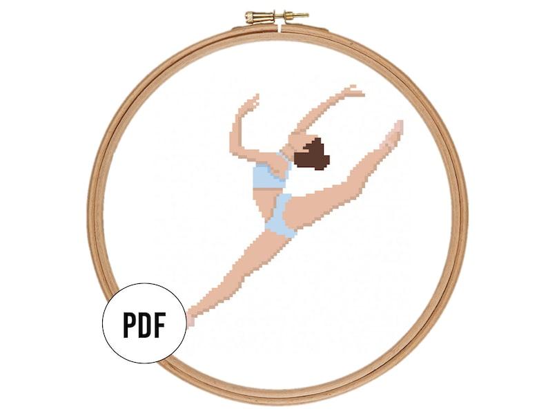 Contemporary Ballerina Counted Cross Stitch Pattern Bundle