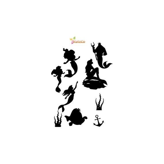 ariel svg little mermaid cut file flounder svg little mermaid cricut little mermaid silhouette little mermaid little mermaid svg