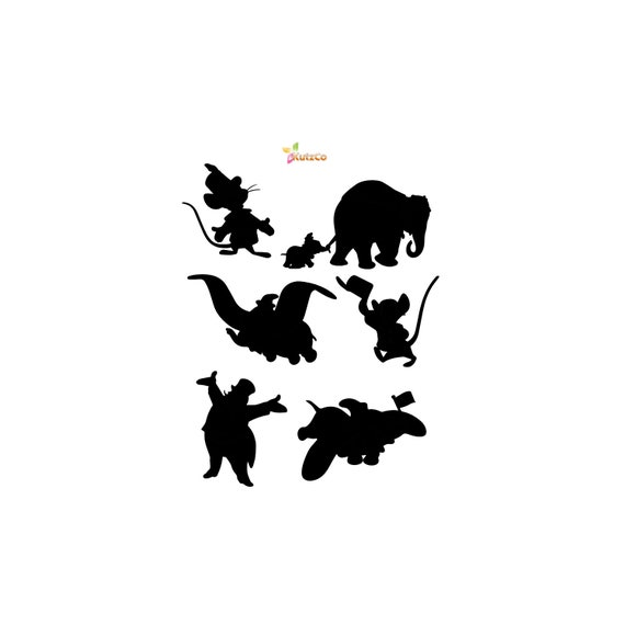 Dumbo Svg Elephant Svg Disney Svg Cricut Silhouette Scan Etsy