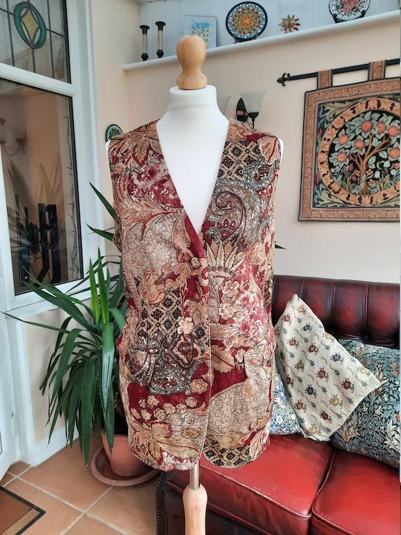 Vintage red & gold velvet waistcoat by Furnkranz V