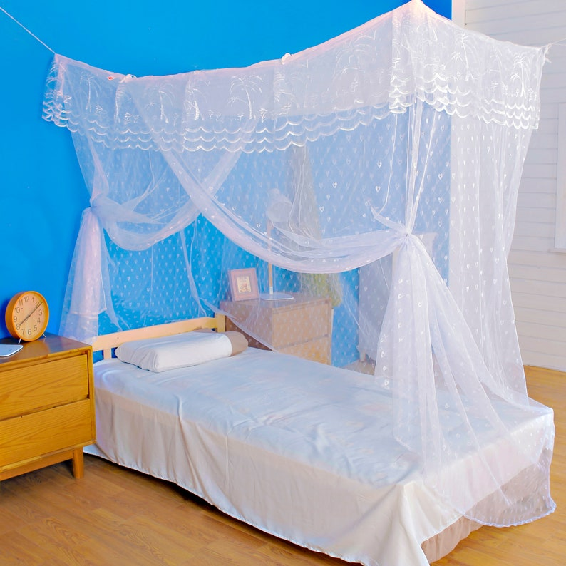 Artistic Mosquito Net Bed Canopy for Single Twin Sized Beds image 0