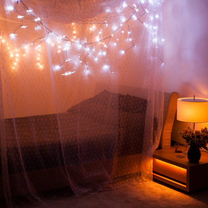 Artistic Mosquito Net Bed Canopy for Double Full/Queen/King image 0