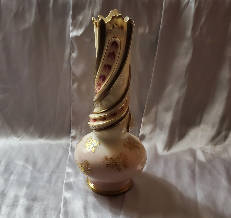 Porcelain Vase Gilded Austrian Antique