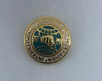 International Taekwondo Federation lapel pin - ITF Taekwon do pin - Tae Kwon Do lapel pin - TKD