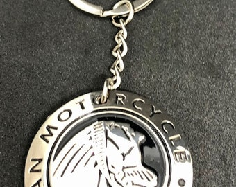 Indian Motorcycle keychain - ONE OF A KIND - Indian Concho keychain with pewter back