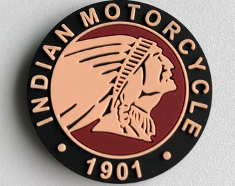 Indian Motorcycle fridge magnets - Indian Motorcycle rubber magnets - Indian Headdress Magnet - Indian Motorcycle Collectible