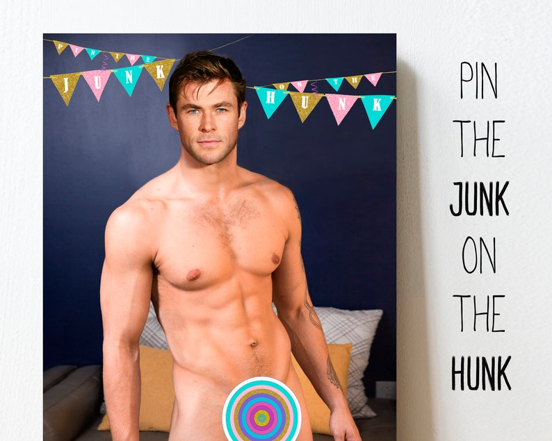 photograph relating to Pin the Junk on the Hunk Printable known as Pin the junk upon the hunk, hens social gathering pin the, bachelorette celebration game titles, Chris Hemsworth, pin the , bridal shower, printable, Obtain
