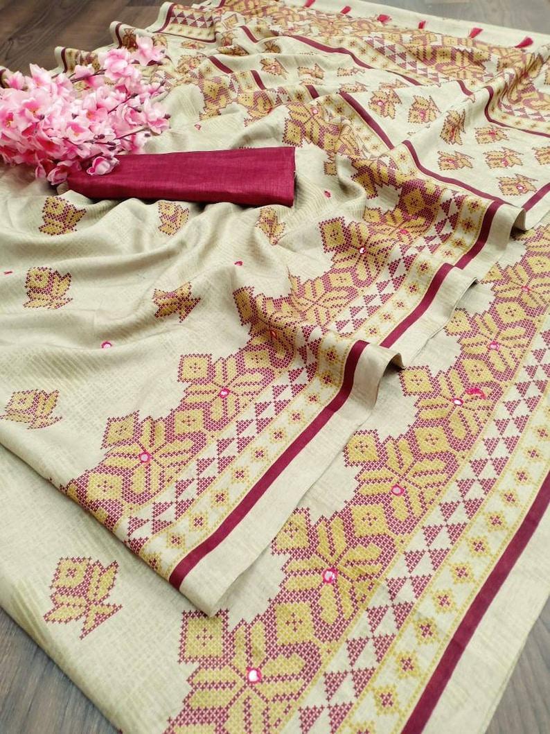 Red sareee traditional saree Soft silk with print Saree and blouse for women,saree,saree for women,saree dress,wedding saree,indian saree