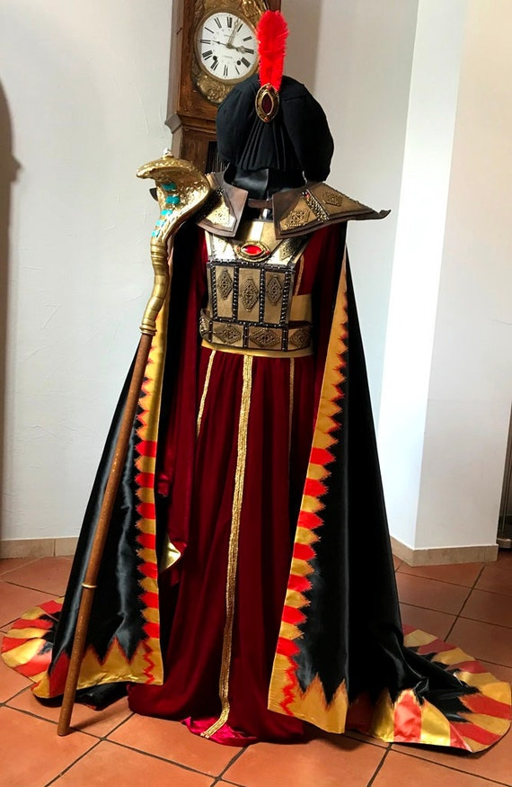 Aladdin And His Lamp Cosplay Wizard Jafar Dress Costume Suits Halloween Party