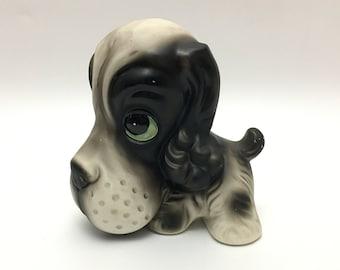 Vintage Norleans Dog Figurine, Cocker Spaniel Japan Dog Figurine, Big Eyed Dog, Big Head Dog