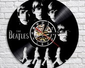 Wedding Gift For Mom Dad Bride Groom The Beatles Band Vinyl Record Wall Clock Vintage LP Home Decor Mothers Day Fathers Day Valentines Day