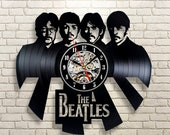 Christmas Wedding Anniversary Mothers Day Gift For Him Her Friends Beatles Yellow Submarine Vinyl Record Wall Clock Vintage LP Home Decor