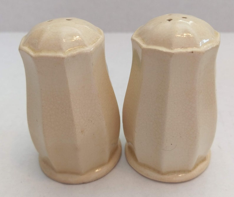 Vintage Collectible Ridged Ceramic 3-D Hand-painted Fruit Salt Pepper Shakers made in Japan