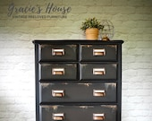 Industrial Style Tallboy Chest of Drawers