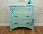 Cosmic Serenity - Floral Chest of Drawers
