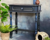 Blue Accent Table Side Table Lamp Table