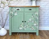 Green Oak Cupboard - Birds & Branches