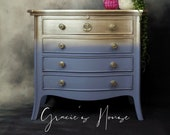 Gold & Blue Chest of Drawers Bedside