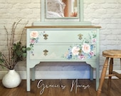 Solid Oak Dressing Table - Drawers with Mirror