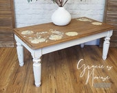 Rustic Farmhouse Cottage Solid Pine Coffee Table