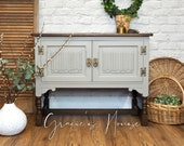 Old Charm Solid Oak Cabinet
