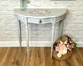 Demi Lune Half Moon Console Table Occasional Table