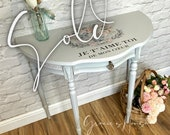 NOW SOLD Demi Lune Half Moon Console Table Occasional Table