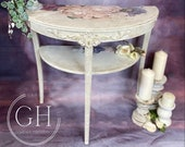 Faded Grandeur Style Demi Lune Table