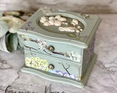Beautiful Hand Painted Jewellery Box