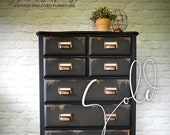 NOW SOLD - Industrial Style Tallboy Chest of Drawers