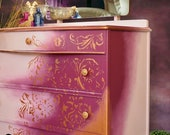 Boho Vintage Dressing Table Chest of Drawers
