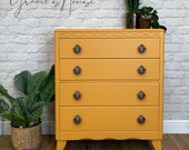 Vintage Lebus Mid Century MCM chest of Drawers