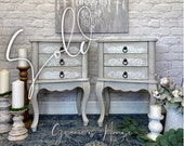 NOW SOLD - Pair of French Country Shabby Chic Bedside Tables