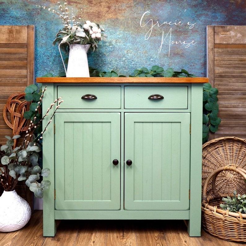 Green Oak Cupboard image 0