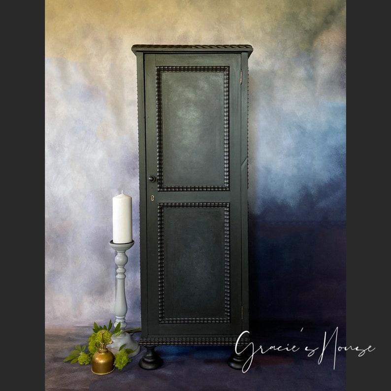 Black Vintage Gothic Cabinet image 0