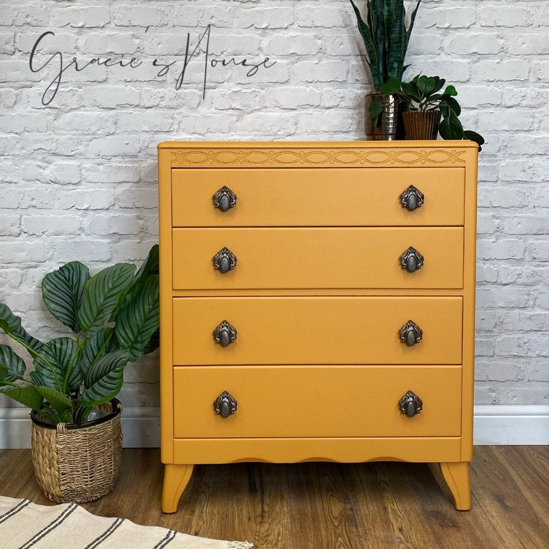 Vintage Lebus Mid Century MCM chest of Drawers image 0