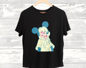 7ba5a229 Disney shirt for Women Girl Men tshirt t shirt Mickey Mouse Youth Graphic tee  shirt Unisex Tumblr Epcot Teen Rave Trippy Skull Cartoon Gift