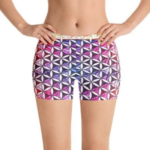 Flower of Life Ripple All-Over Print Shorts