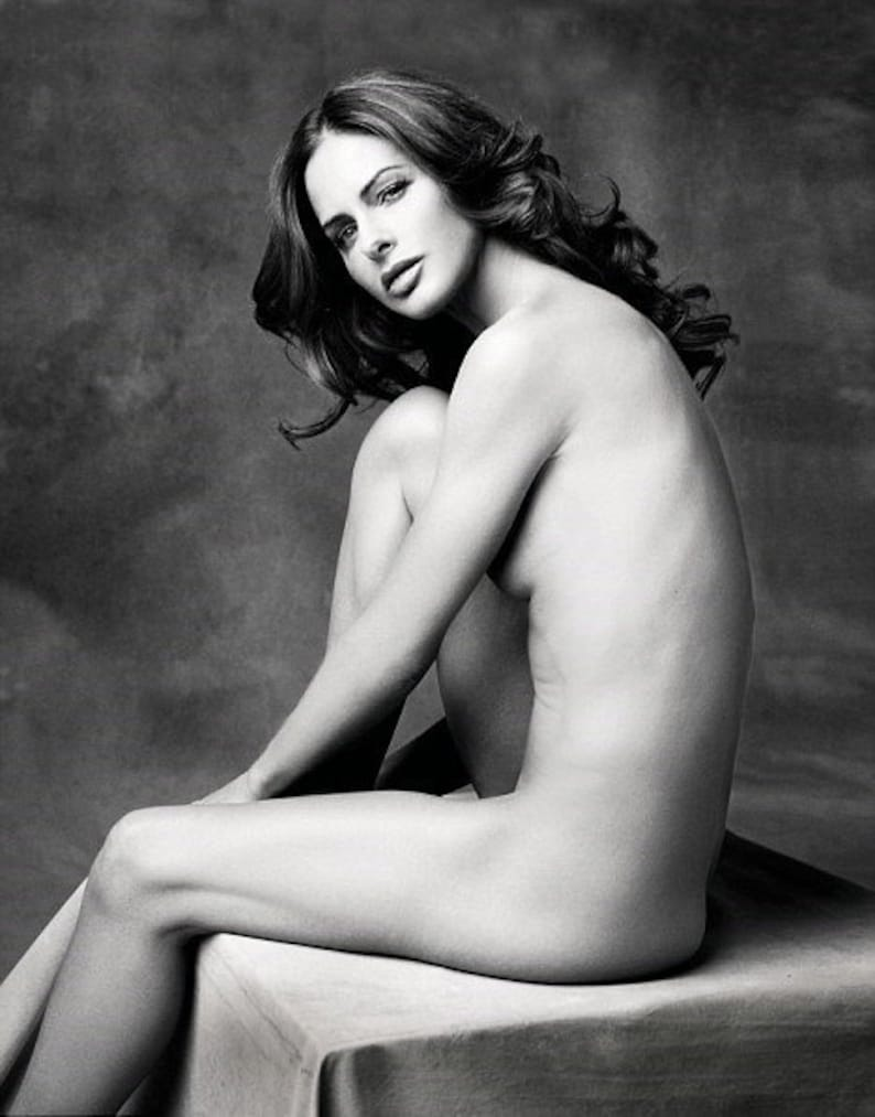 3 x Trinny Woodall British TV presenter implied nude nudes naked topless  hot sexy celebrity body photo picture print