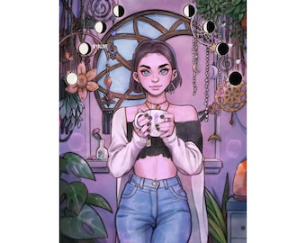 Witch Aesthetic Art Etsy
