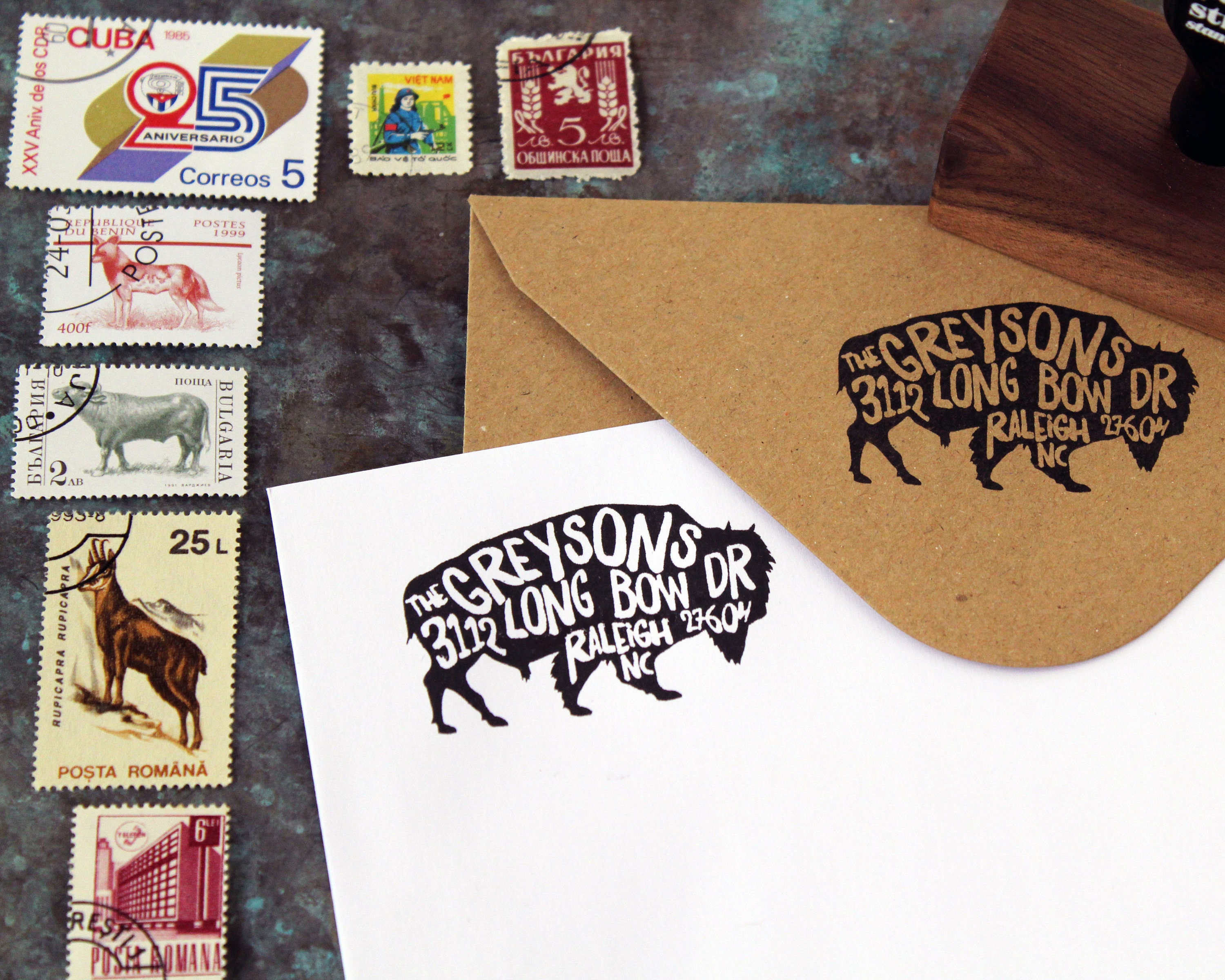 housewarming parties and weddings stamp perfect gift for holidays Custom Georgia State Return Address Stamp