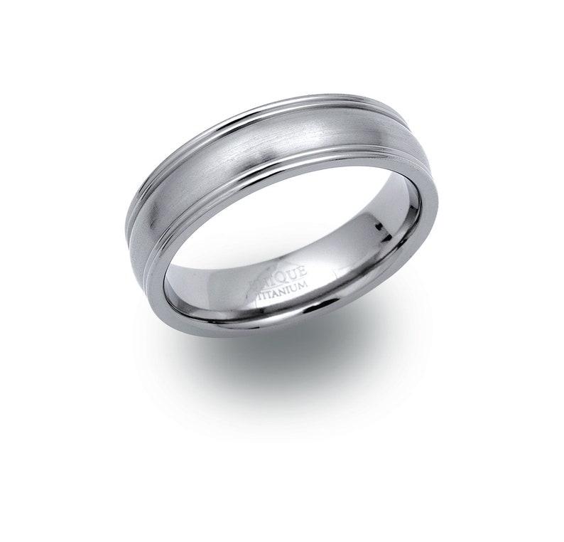 Titanium Wedding Ring,Comfort Fit 6mm Gents Titanium Wedding Band Personalised Wedding Band Satin  Matt Wedding band Gents Wedding Ring