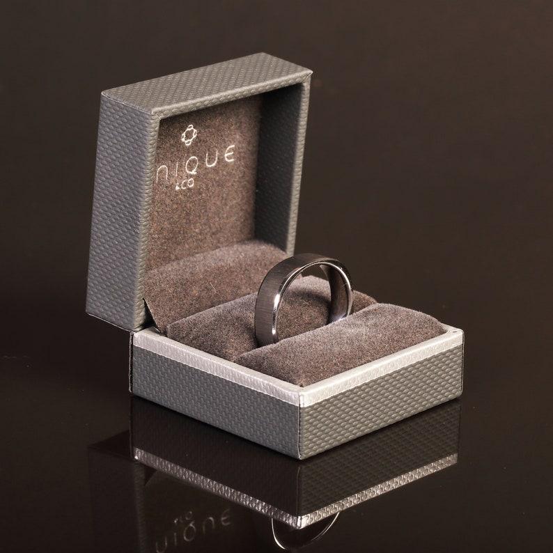Wedding Ring Matt and shiny ring 7mm Wedding Band, Gents Wedding Band 7mm Gents Flat Tungsten band Gents Wedding Band Design on Ring